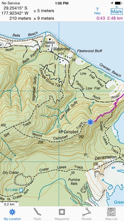 I Hike GPS NZ Topo Maps By James Associates Inc - Where to get topo maps for hiking