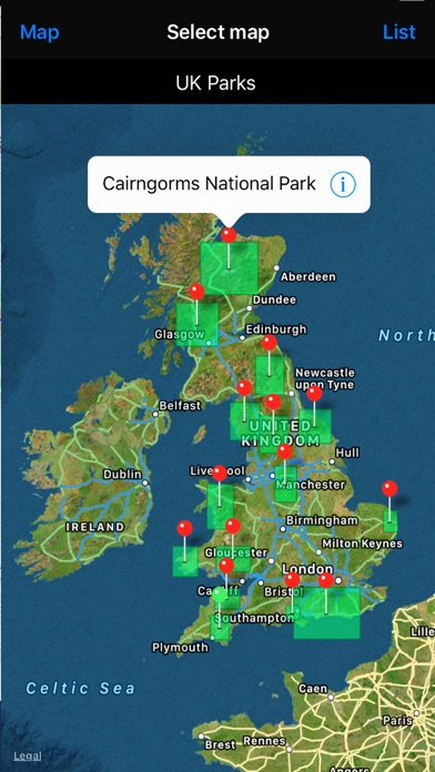 UK Parks & Forests GPS OS Maps screenshot one