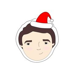 Christmas Stickers-Marie Curie