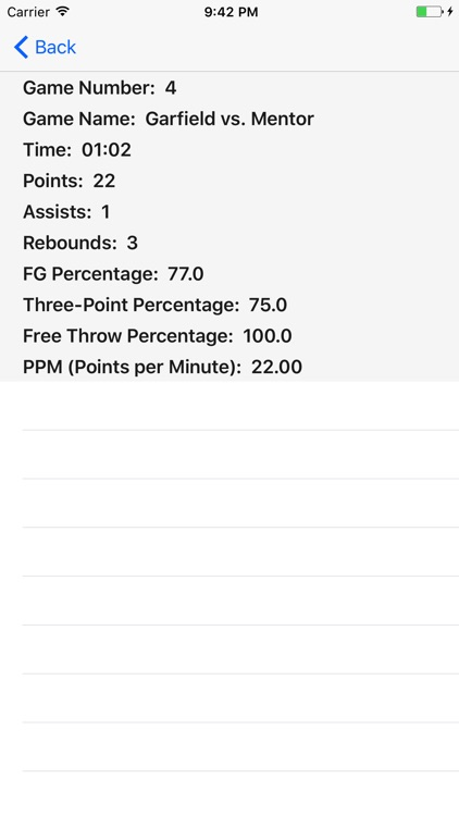 Personal Basketball Stat Keeper screenshot-3