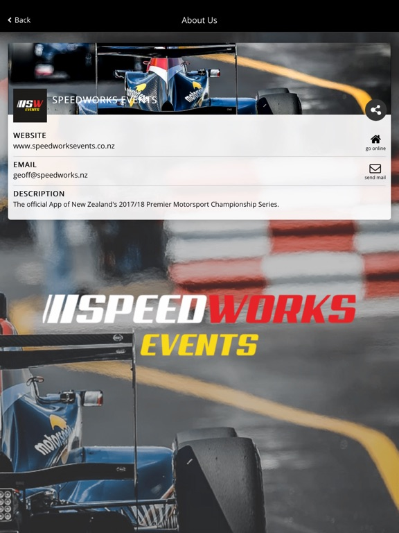 Image of Speedworks Events for iPad