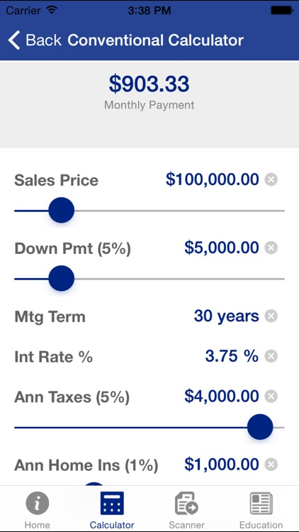 Cenmark Mortgage Calculator