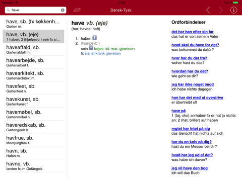 Gyldendal's German Danish Dictionary - Mini screenshot 4