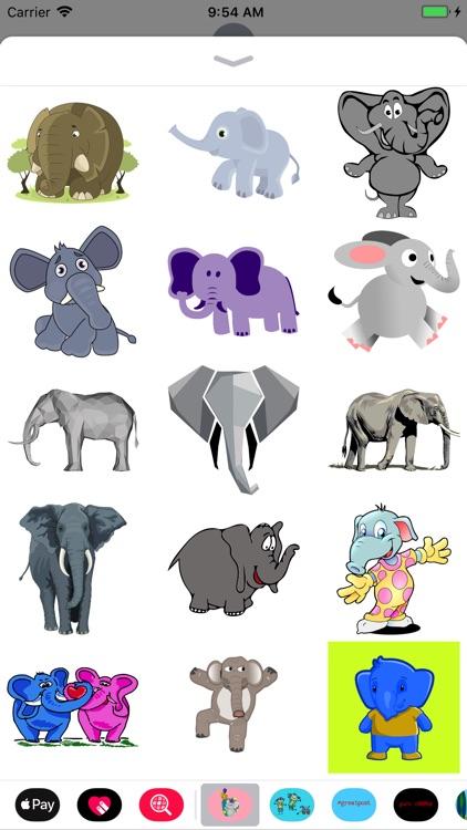 Fun Elephant Stickers screenshot-3