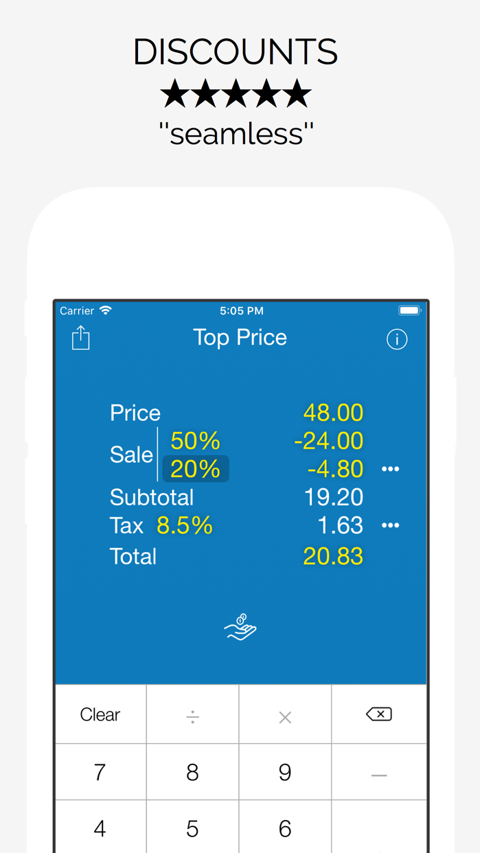 Top Price Sales Tax Calculator Screenshot