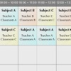 Time Table : Class