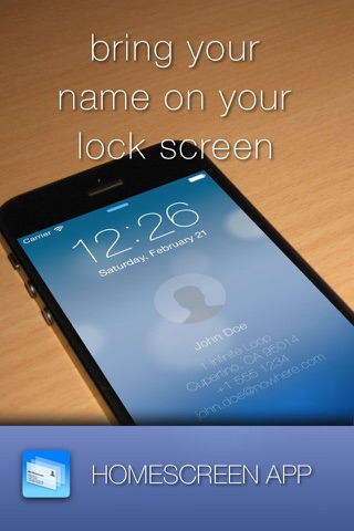 Lockscreen Homescreen Name ID screenshot 1