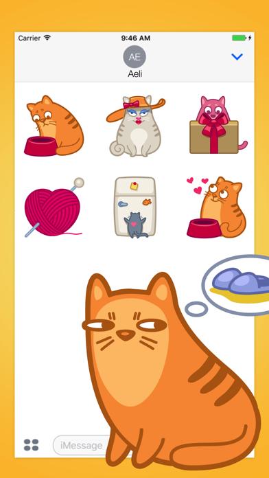 Midnight Cat Power Stickers Pack