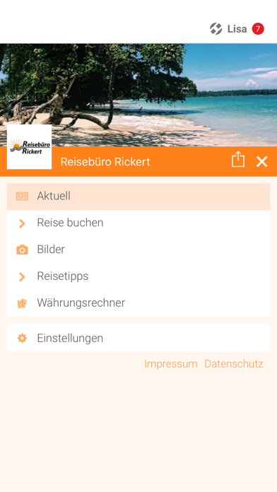 Reisebüro Rickert screenshot 2