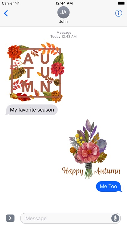 Autumn Love - Most Beautiful Autumn Stickers
