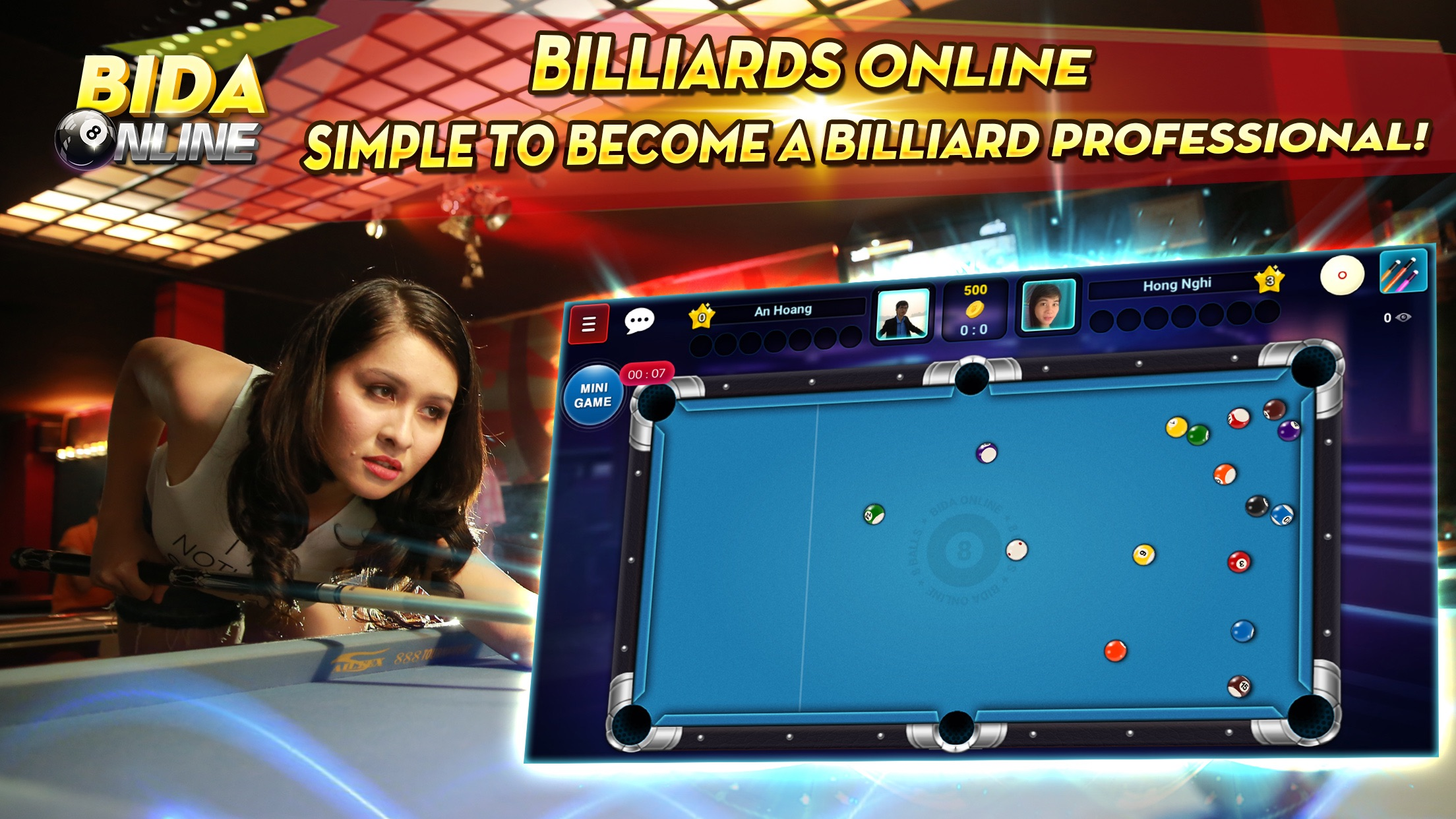 Bida online - 8 pool pro, card Screenshot