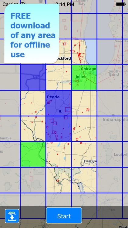 Aqua Map Illinois Lakes GPS HD screenshot-4
