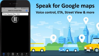 Speak for Google Maps app Screenshots