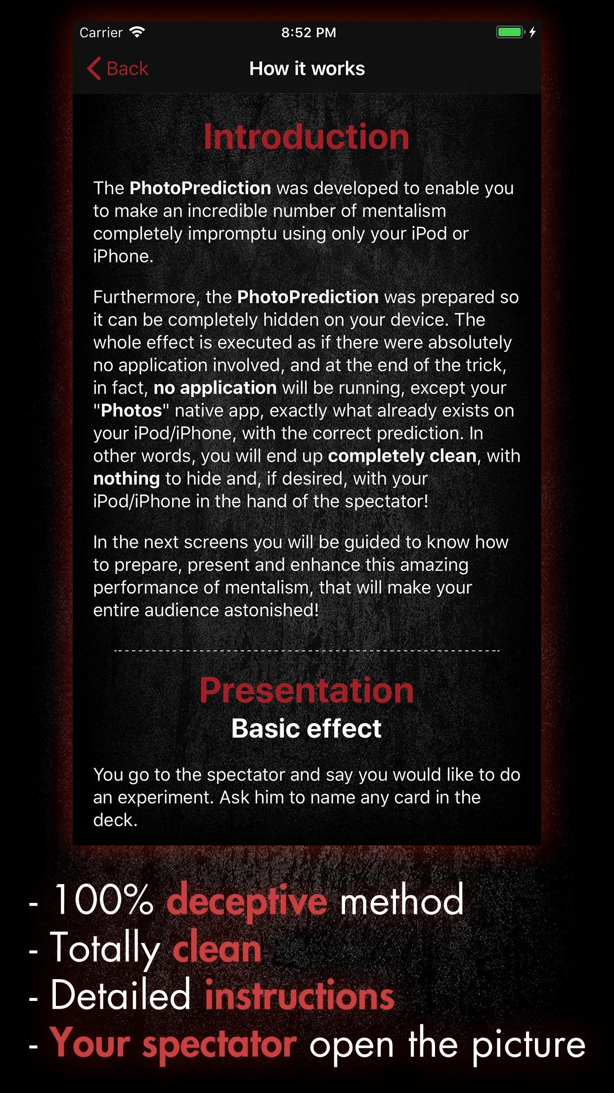 PhotoPrediction (Magic Trick) Screenshot
