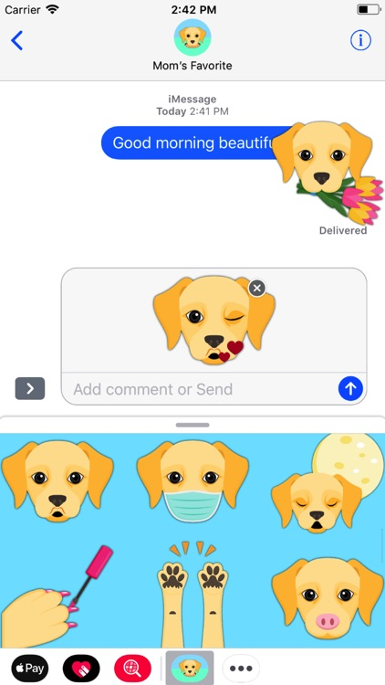 Yellow Labrador Emoji screenshot-1