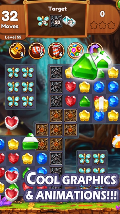 Jewels & Gems Matching Game screenshot-3
