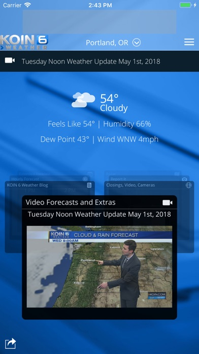 App Shopper: PDX Weather - KOIN Portland OR (Weather)