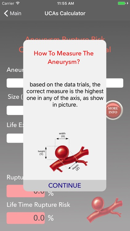 Aneurysm Rupture Risk Calculator screenshot-3