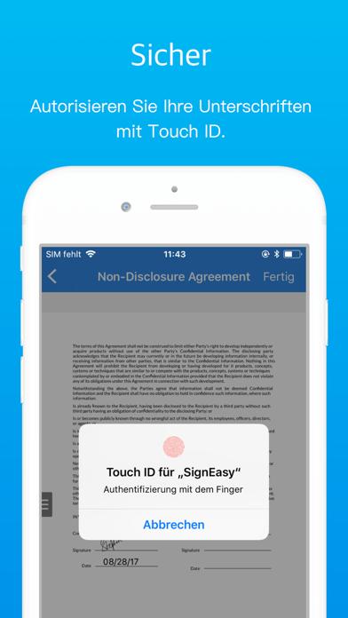 SignEasy, Doks signieren/ausf.Screenshot von 3