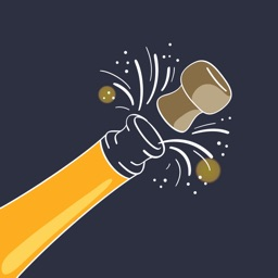 Champagne Cheers Stickers