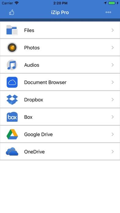 iZip Pro for iPhone screenshot 1