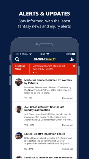 tracking an iphone news by fantasypros on the app 6765