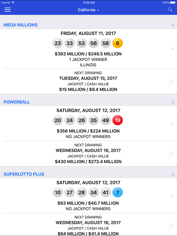 Lotto Results - Lottery in US | App Price Drops
