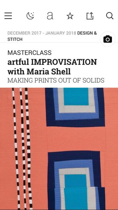Quilting Arts Magazine review screenshots