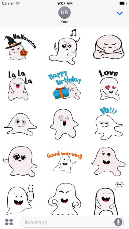 Ghost emoji and sticker