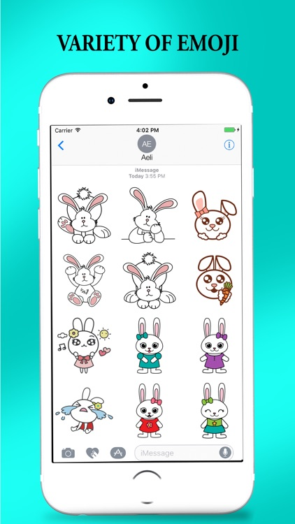 Bunny Cat Stickers for iMessage screenshot-3