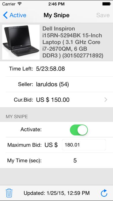 Myibidder Auction Sniper Screenshot