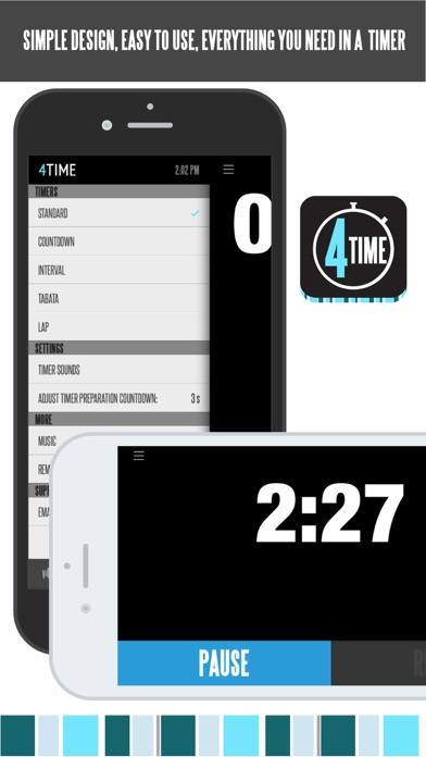 4Time — XF WOD TIMERのおすすめ画像1