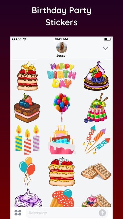 Happy Birthday Sticker 2018