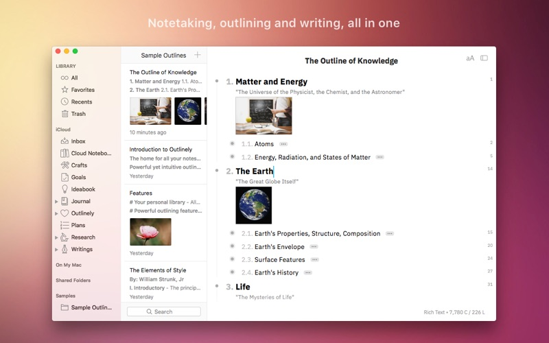 Outlinely - Outline & notes