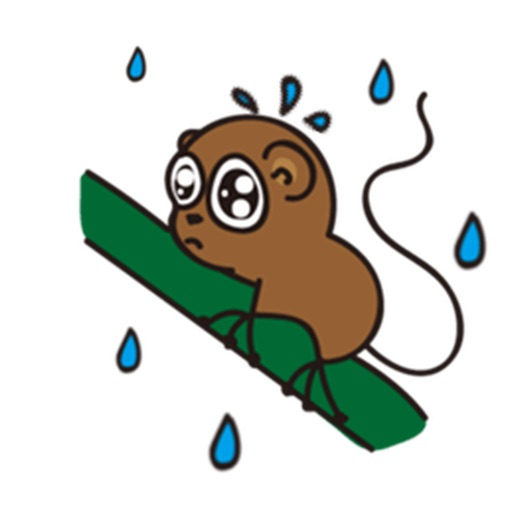 Cute and Shy Tarsier Sticker