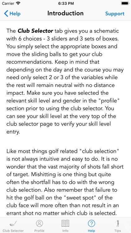Golfmaster Club Selector screenshot-5