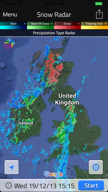 UK Snow Radar