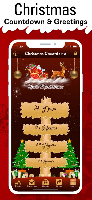 Christmas Countdown Widget.Christmas Countdown Timer 2018 On The App Store