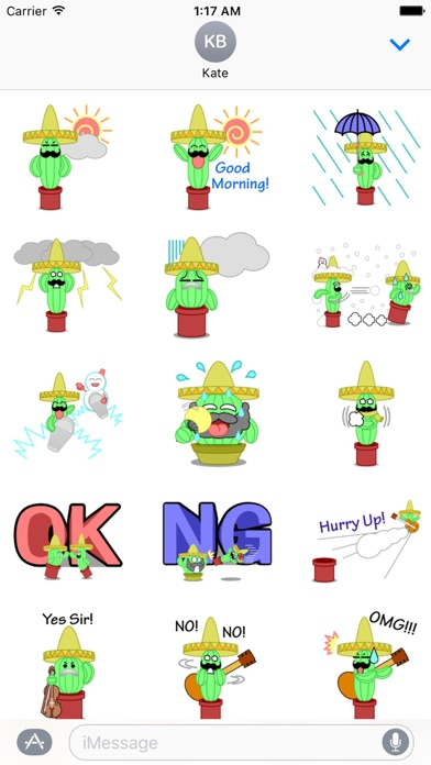 Mexico Cactus Music Band Emoji screenshot 2