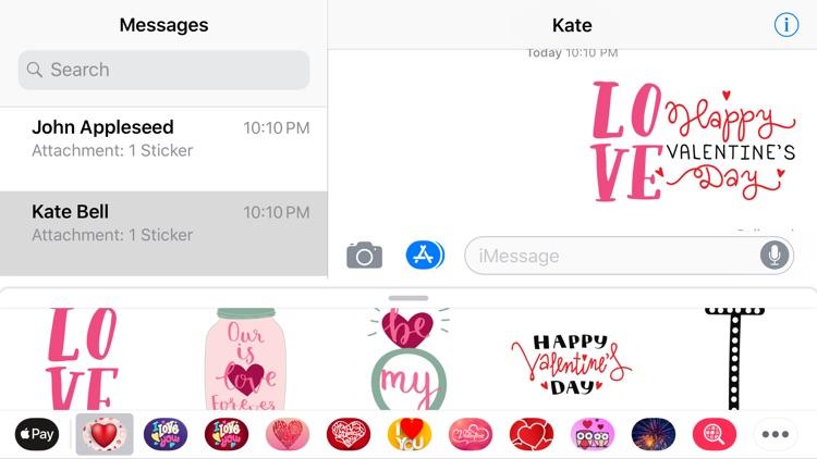 Valentine's Days Love Sticker screenshot-3