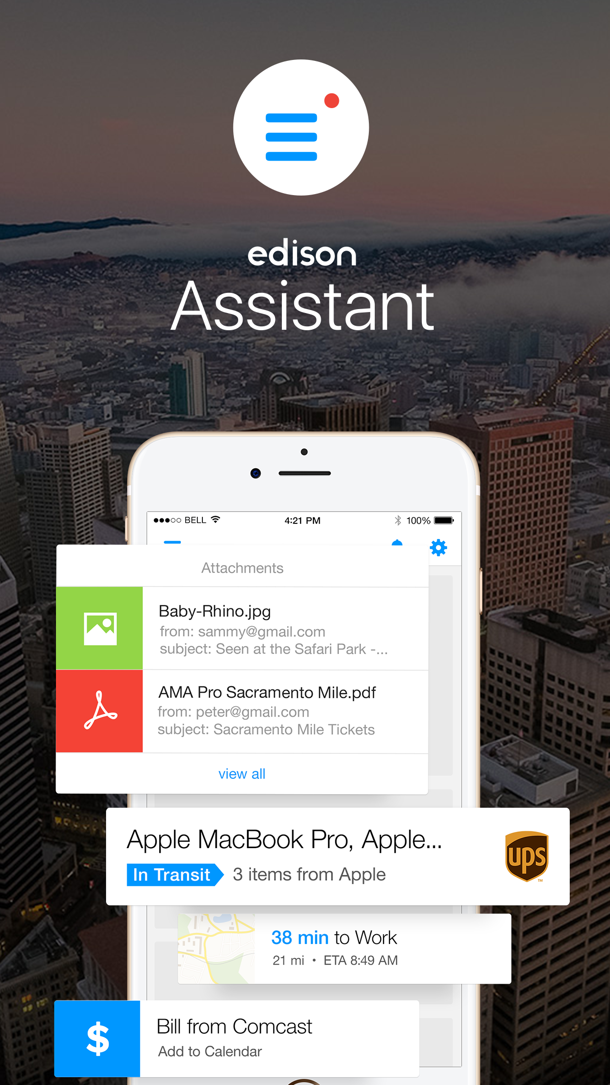 Edison Assistant Screenshot