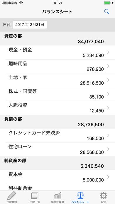 損益計算書 screenshot1