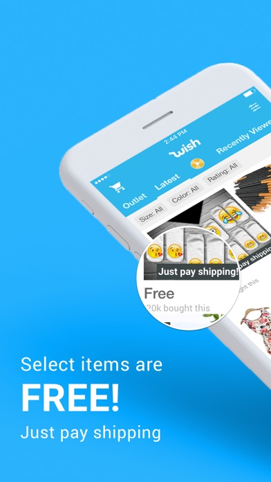 Screenshot for Wish - Shopping Made Fun in Estonia App Store