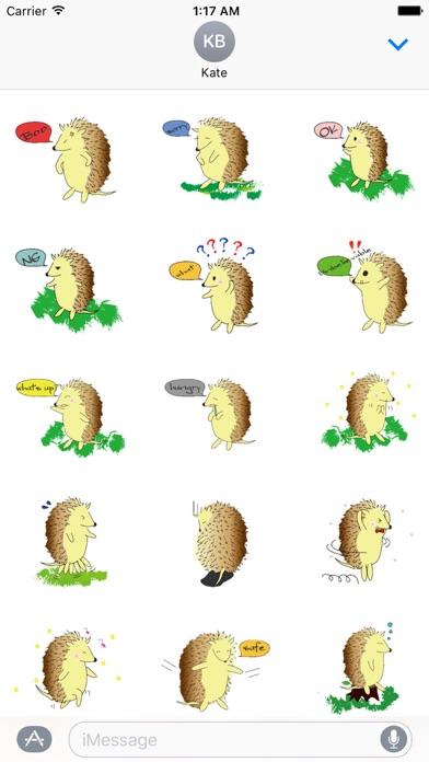 Happy Life Of Hedgehog Sticker screenshot 2