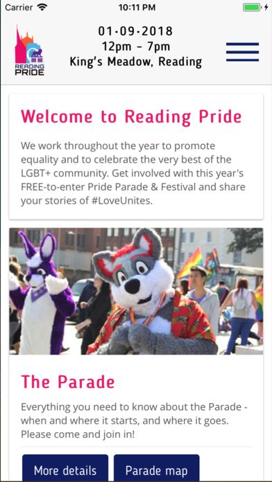 Reading Pride screenshot two