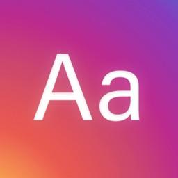 Fonts + for Instagram