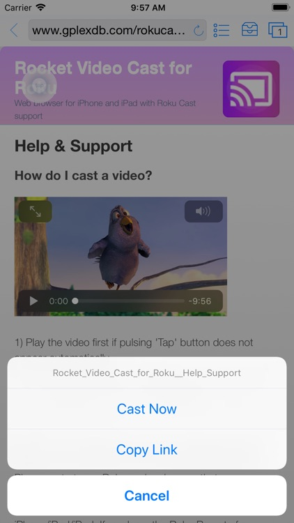 Rocket - Video Cast for Roku