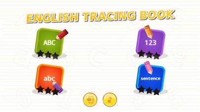 English Tracing Book Screenshot on iOS