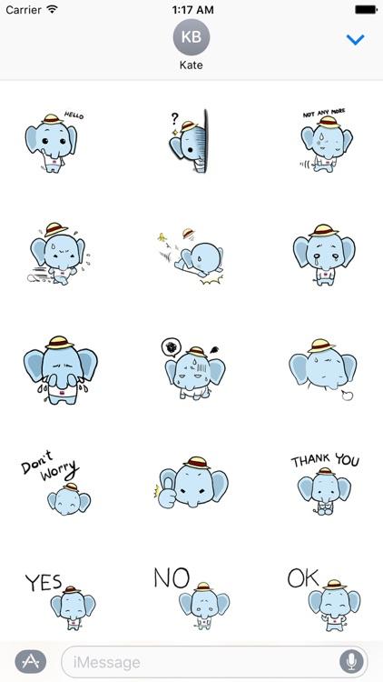 Cute Little Elephant Sticker