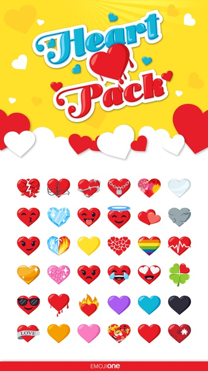 Heart Pack by EmojiOne